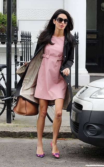 Amal Alamuddin seen leaving her London home