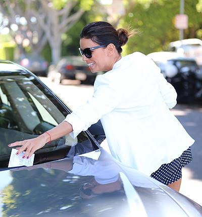 Eva Longoria spotted leaving Ken Paves Salon to discover a parking ticket on her car Featuring: Eva Longoria Where: Los Angeles, California, United States When: 13 Jun 2014 Credit: WENN.com