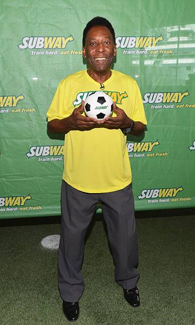 Subway Celebrates Pele As Newest Addition To Famous Fan Roster