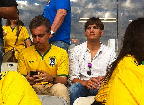 Ashton Kutcher watches Germany enjoy greatest half hour in World Cup history!