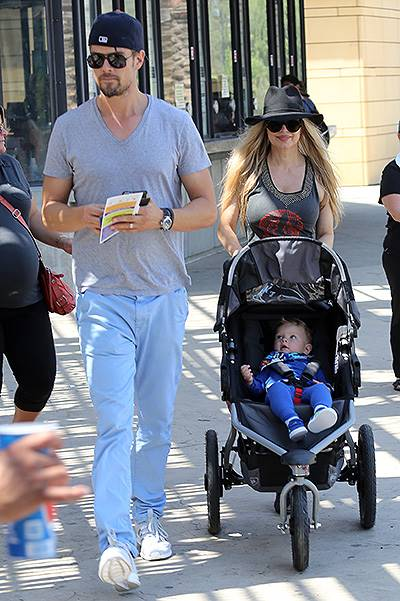 Fergie and Josh Duhamel taking their son to his very first trip to the Zoo