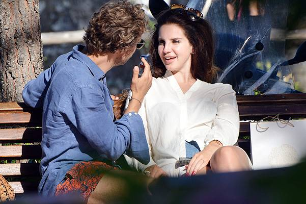 EXCLUSIVE: Lana Del Rey with her new rumoured boyfriend Francesco Carrozzini spotted looking loved up in Santa Margherita Ligure