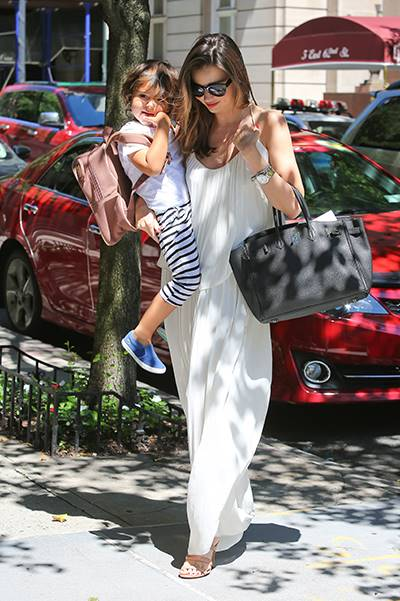 Miranda Kerr and Flynn are joined at the hip after breakfast