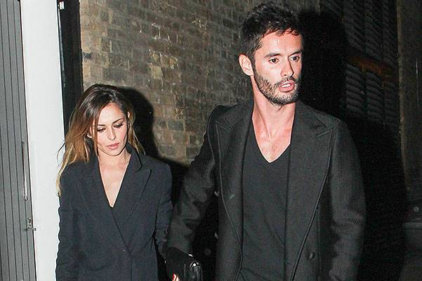 Cheryl Cole and Jean-Bernard Fernandez-Versini pictured leaving the Chiltern Firehouse club via the back door, London, UK