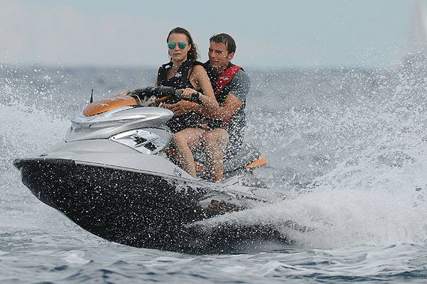 Selena Gomez and Cara Delevingne spend time parasailing, riding jet skis and relaxing on a yacht while on holiday together in Saint-Tropez Featuring: Cara Delevingne Where: Saint-Tropez, France When: 22 Jul 2014 Credit: SIPA/WENN.com **Only available fo