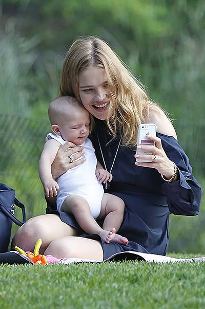 EXCLUSIVE: Natalia Vodianova brings newborn son Maxim to Central Park in New York City
