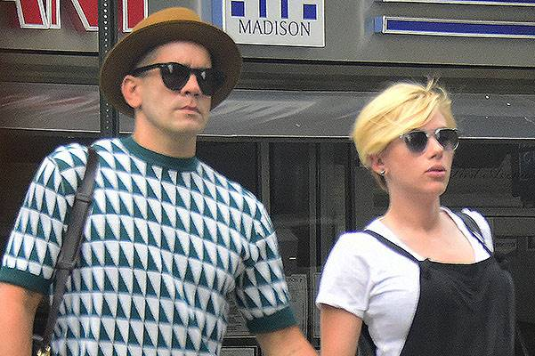 Scarlett Johansson and Romain Dauriac hold hands while out in New York City