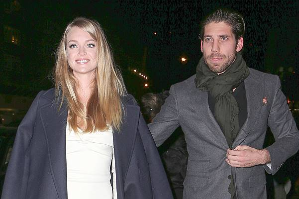 Lindsay Ellingson and boyfriend Sean Clayton seen arriving at the screening of 'The Hobbit: Desolation of Smaug' in New York City