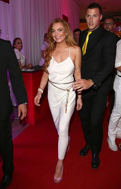 Lindsay Lohan attends the White Party in Linz, Austria