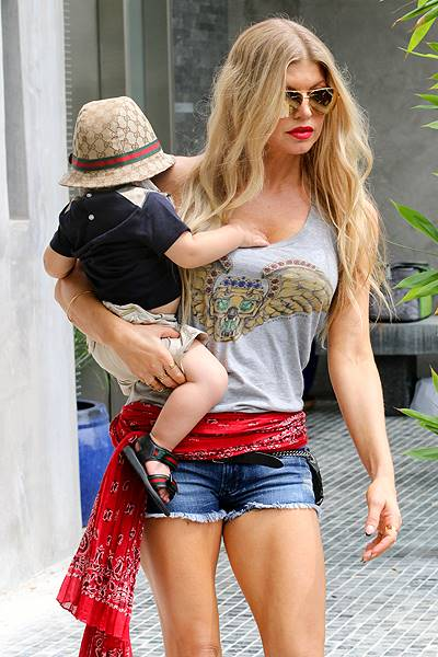 Josh Duhamel and Fergie attend a family birthday party in Riverside, CA