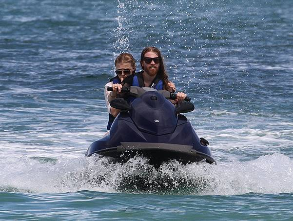 Actress Chloe Grace Moretz and her brother go jet skiing in Miami Beach together
