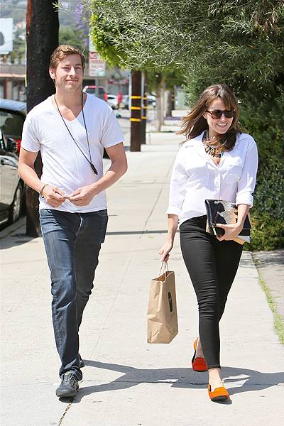 Actress Sophia Bush seen with her boyfriend, Google program manager Dan Fredinburg, leaving an office building and heading to a hair salon. Featuring: Sophia Bush,Dan Fredinburg Where: Los Angeles, CA, United States When: 24 May 2013 Credit: Michael Wrig
