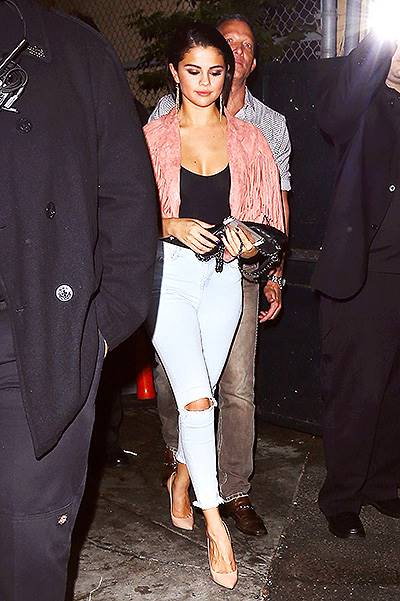 Selena Gomez spotted leaving The Abbey nightclub in West Hollywood, CA
