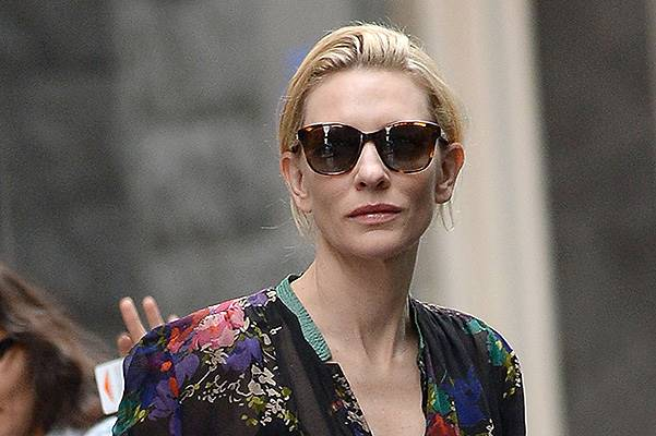 "Cate Blanchett walked to rehearsals for ""The Maids"" in Manhattan"