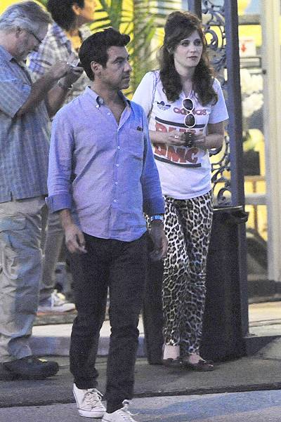 """Zooey Deschanel spotted making out with a mystery man during break on the set of """"Rock The Kasbah"""" filming in Sherman Oaks Ca. The actress couldn't resist and was seen hugging, holding and locking lips with a man who seemed to be a personal assistant for"""