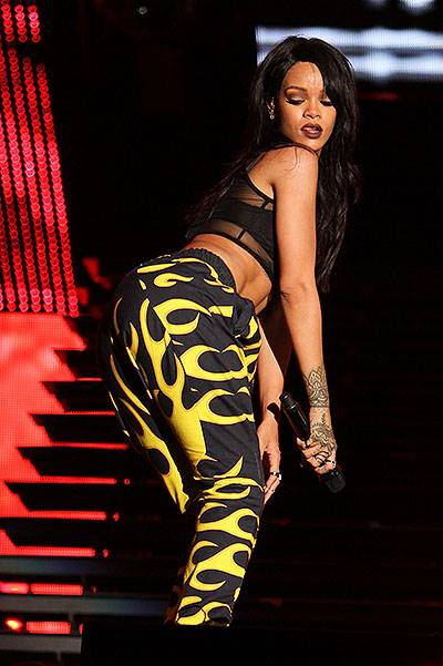 EXCLUSIVE: Rihanna performs on opening night for the Monster Tour with Eminem at the Rose Bowl in Pasadena, CA