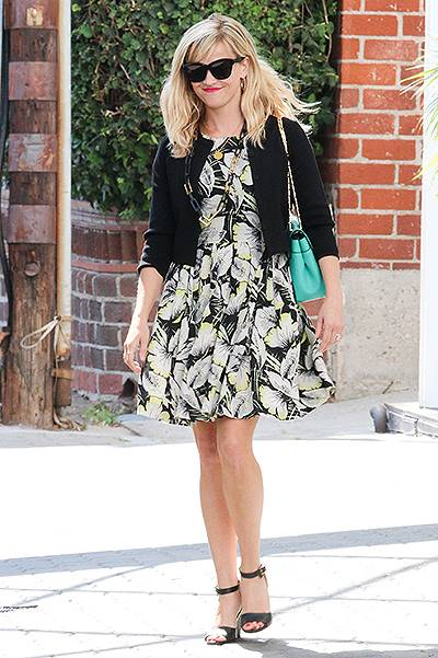 Reese Witherspoon shopping in Beverly Hills, CA