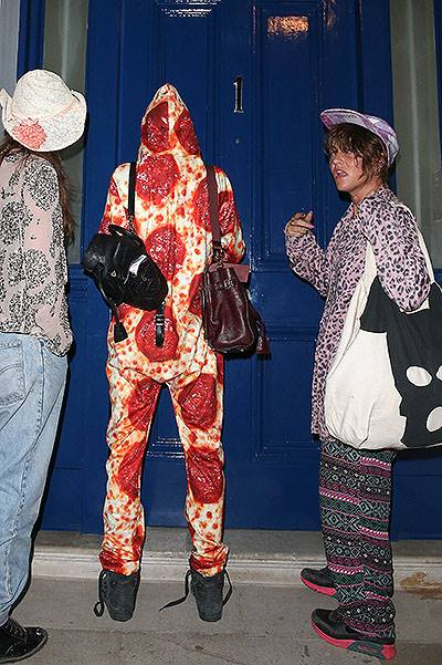 Cara Delevingne arrives home at 3am in a onesie from Ibiza