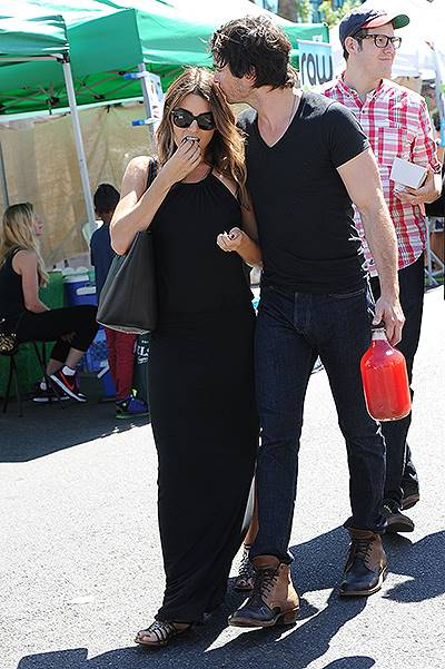 Nikki Reed and Ian Somerhalder at the Farmers Market Featuring: Nikki Reed,Ian Somerhalder Where: Los Angeles, California, United States When: 17 Aug 2014 Credit: WENN.com