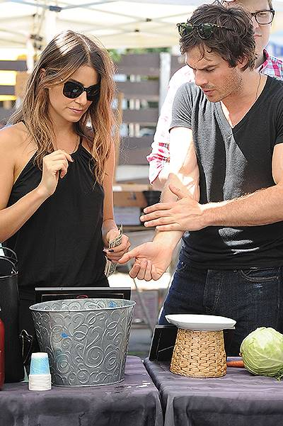 Nikki Reed and Ian Somerhalder shop for Pomegranate Kombuche Featuring: Nikki Reed,Ian Somerhalder Where: Los Angeles, California, United States When: 17 Aug 2014 Credit: WENN.com