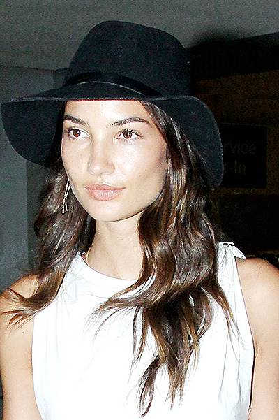 Lily Aldridge arrives at the Los Angeles International Airport***NO DAILY MAIL SALES***