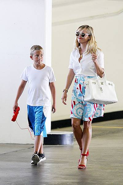 Reese Witherspoon and son Deacon out for lunch in Beverly Hills