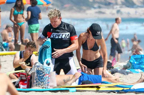 *EXCLUSIVE* David Beckham has a fun day at the beach