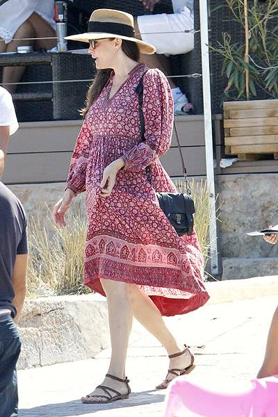 Liv Tyler with her son Milo and Dave Gardner on holiday in Formentera, Spain (BLURRED)