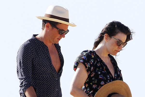 Liv Tyler with her son Milo and new love Dave Gardner on holiday in Formentera, Spain