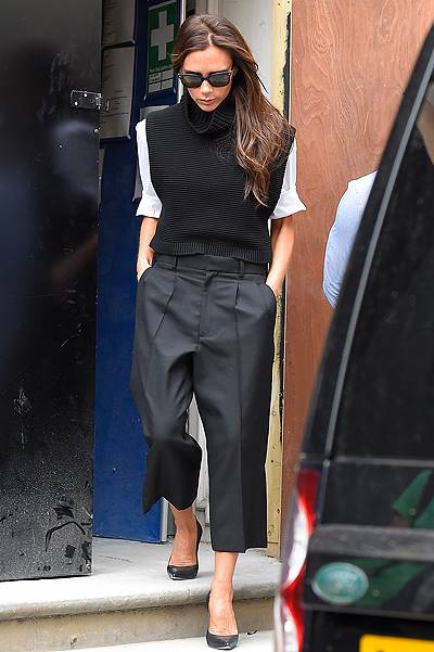 Victoria Beckham visits her Mayfair boutique ahead of next months opening