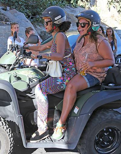 EXCLUSIVE: Rihanna rented a quad with a friend in Corsica