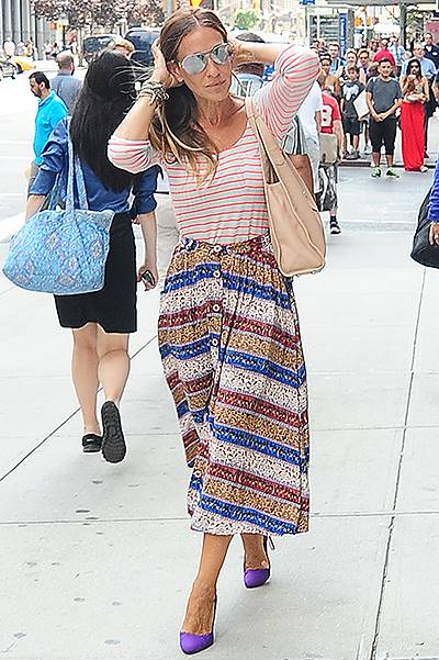 Sarah Jessica Parker seen out and about in NYC