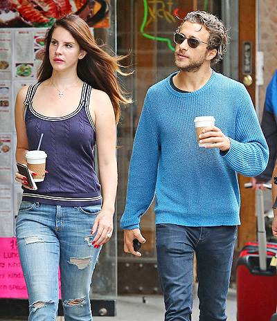 EXCLUSIVE: Lana Del Rey and her boyfriend Francesco Carrozzini spotted out and about today in NYC