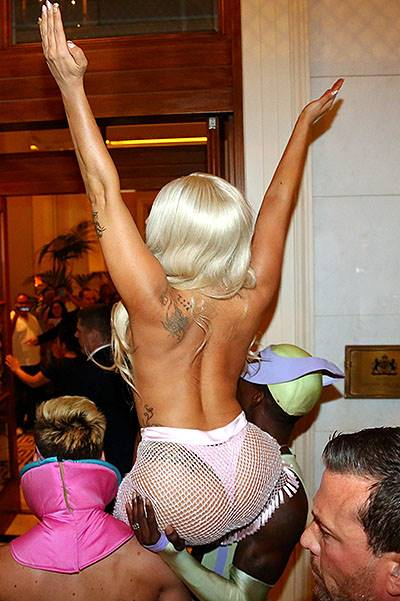 Lady Gaga arrives in Athens, Greece