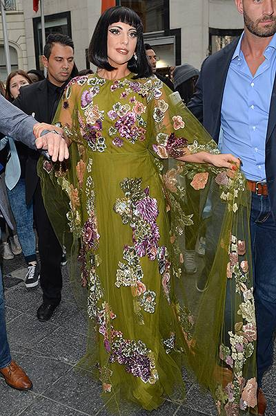 Lady Gaga Leaves Her Hotel Of Brussels