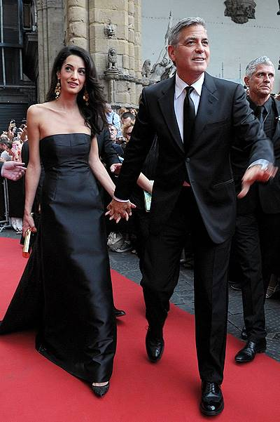 Celebrity Fight Night benefiting The Andrea Bocelli Foundation and The Muhammad Ali Parkinson Center - Arrivals Featuring: Amal Alamuddin,George Clooney Where: Florence, Italy When: 07 Sep 2014 Credit: KIKA/WENN.com **Only available for publication in U