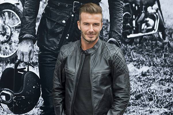 David Beckham at the Belstaff Off Road book launch party in NYC