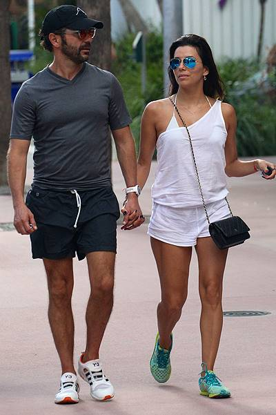 Eva Longoria and Jose Antonio Baston shopping in Miami