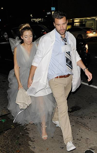 Lauren Conrad and William Tell at the Matthew Morrison Halloween party