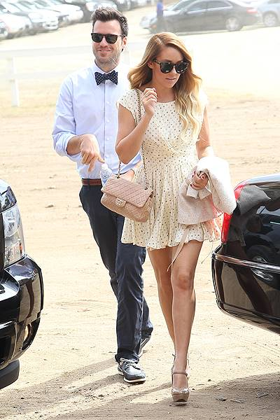 Lauren Conrad and boyfriend William Tell arrive at a Polo Match