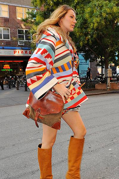 Blake Lively showing off her baby bump while out in New York City