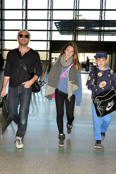 Jude Law Departs With Kids