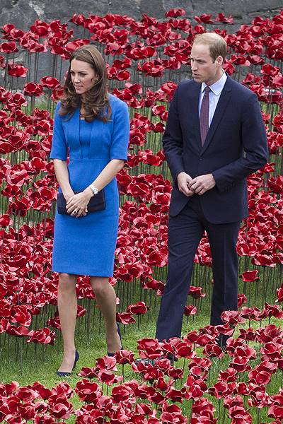 Royals Visit Tower Of London Ceramic Poppy Installation