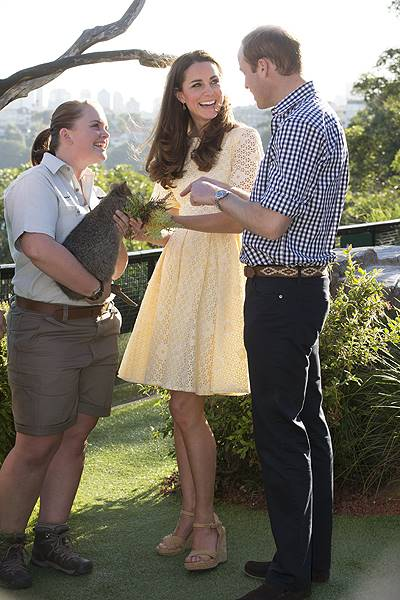 The Duke and Duchess of Cambridge at Sydney Zoo today on April 20, 2014