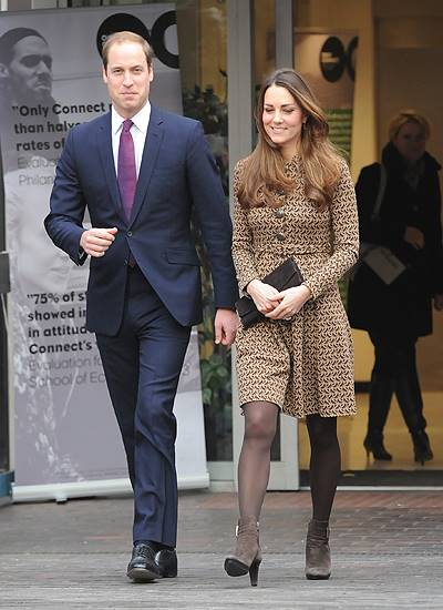 William and Kate, the Duke and Duchess of Cambridge, depart the Only Connect charity's office
