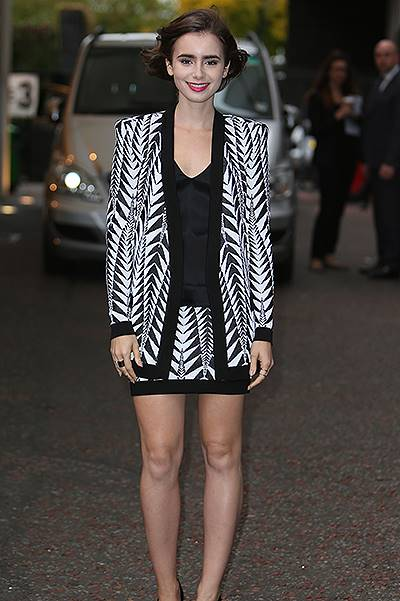 Lily Collins outside the ITV studios today Featuring: Lily Collins Where: London, United Kingdom When: 06 Oct 2014 Credit: Rocky/WENN.com