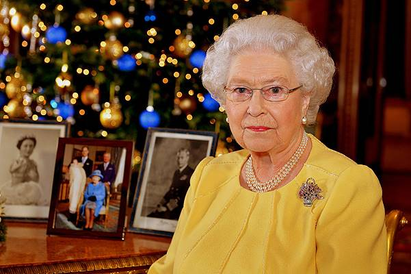 Queen Elizabeth II's 2013 Christmas Broadcast At Buckingham Palace