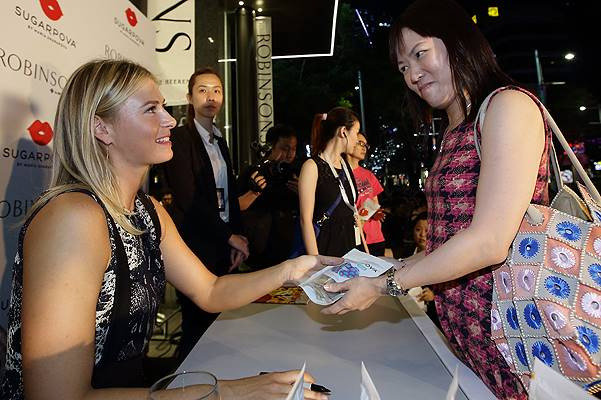 Maria Sharapova Launches 'Sugarpova' Sweets In Singapore