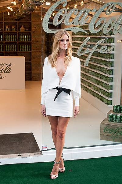 Rosie Huntington-Whiteley launches Coca Cola Life at Coca Cola's South Molton Street Shop. Featuring: Rosie Huntington-Whiteley Where: London, United Kingdom When: 19 Sep 2014 Credit: Daniel Deme/WENN.com