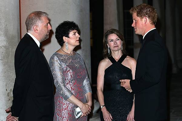 Prince Harry meets guests as he attends 100 Women In Hedge Funds Gala Dinner In Aid Of WellChild